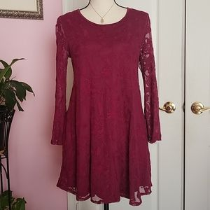 F21 Forever 21 open back lace dress S